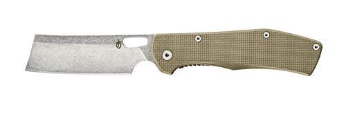 Gerber Taschenklappmesser mit Taschenclip, Klingenlänge: 9,6 cm, Flatiron Folding Cleaver G10, Grau, 31-003686