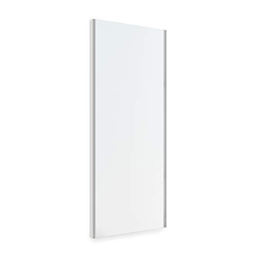 EMUCA - Espejo extraíble para Interior de Armario, Espejo orientable Interior Mueble, 340 x 1000 mm, Acabado Gris Metalizado