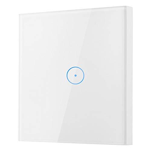 Interruptores de pared, Wifi, Panel táctil de vidrio, Control remoto, Luz inteligente, Puede configurar el tiempo, CA 110-240V, para Google Home/Alexa Eu 110-240V, para Ios y para la aplicación móvil