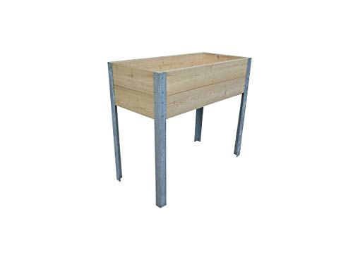 Die Gartenbeet-Kiste Stabiles Hochbeet Terrasse Kräuterbeet Lärchenholz (Modern gehobelt)