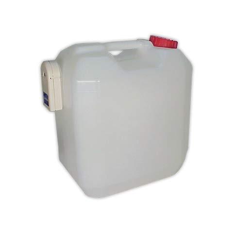 DOJA Industrial | Bidón de plástico condensados con alarma para aire acondicionado capacidad de 20 l | Garrafa de plástico con sensor acústico de nivel de agua