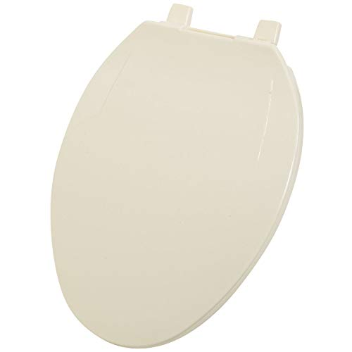 Do It Best Global Sourcing - Toilet Seats 445496 Home Impressions Elongated Plastic Toilet Seat, Brown