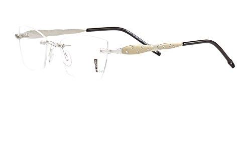 Switch it! Exklusive Garnitur bicolor mit Steinen - Edelstahl Wechselbügel in verschiedenen Farben (9065: gold-silber)