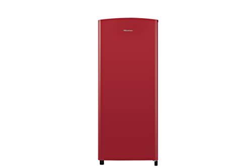 Hisense - Frigorifero Monoporta Con Vano Congelatore Capacità 169 Litri Classe A+ Altezza 128cm Colore Rosso - RR220D4AR1, Senza installazione