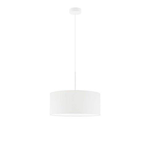 Lámpara de techo SINTRA fi 40 cm, pantalla de color blanco marco blanco 3 x E27