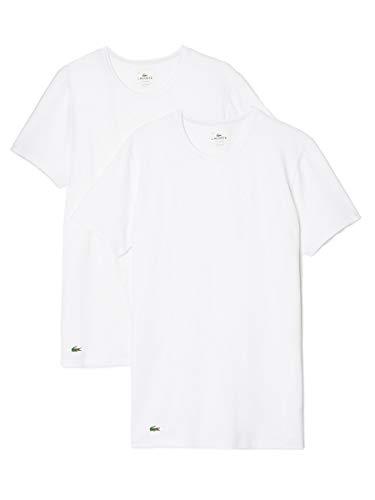 Lacoste Heren T-shirt met 2 pakken crew, Wit