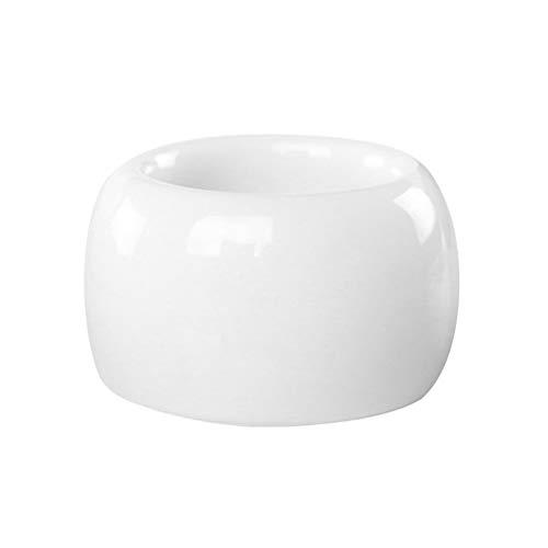 DOITOOL Portaspazzolino elettrico in ceramica, 2 pezzi, supporto per spazzolino da denti (bianco)