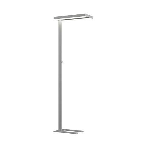 Arcchio LED Stehlampe dimmbar, silber (A+, inkl. Leuchtmittel) | Büro-Stehleuchte | Standleuchte | Bürolampe aus Aluminium für Arbeitszimmer & Büro