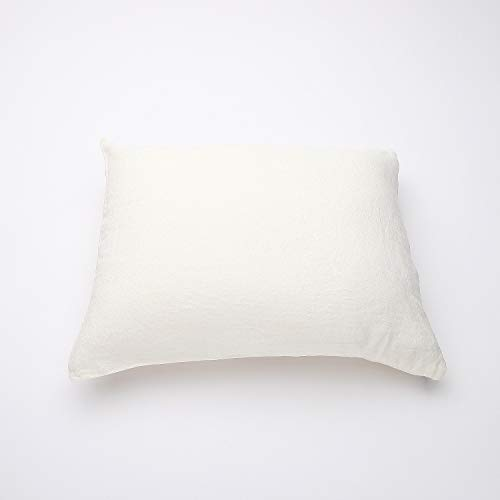 LinenMe Off White Funda de Almohada de Lino Crushed, Square (65 x 65 cm)