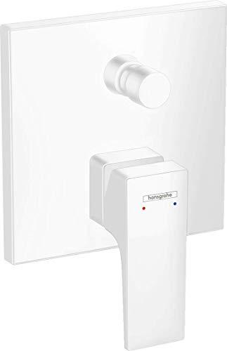 hansgrohe Metropol 32545700 - Grifo monomando para bañera (empotrable), color blanco mate