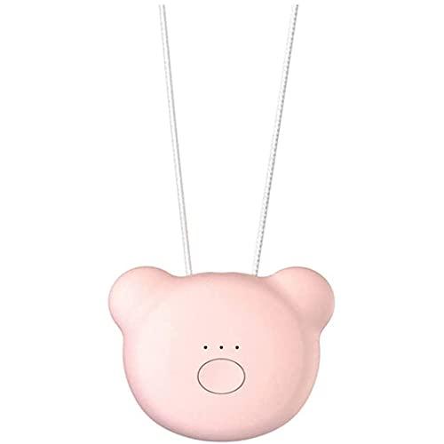 YQZX Mini tragbarer Luftreiniger, negativer USB-negativer Ionengenerator tragbarer Luftreiniger Halskette, um Bakterien, Staub und Viren effektiv zu säubern,Pink