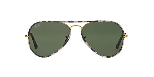 Ray-Ban Aviator Large Metal, Gafas de Sol Unisex Adulto, Dorado (Gold Green & Gold2), 58Dorado (Gold Green & Gold2), 58