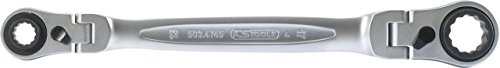 KS Tools 503.4745 4 in 1 GEARplus umschaltbar Gelenk-Doppel-Ringschlüssel, 10x13-17x19mm