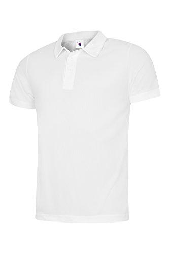 Uneek 140 gsm - Pour hommes Ultra Cool Polo - Blanc, 3XL