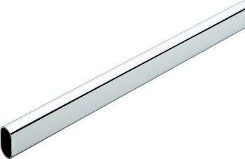 Hafele America 121,9 cm Chrome Poli Closet Rod W/Fin Prend en Charge – Lot de 2