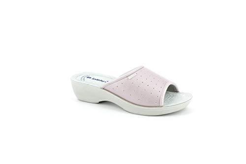 inblu Pantofole Ciabatte SANITARIE Donna MOD. PL-45n Rosa (35 EU)