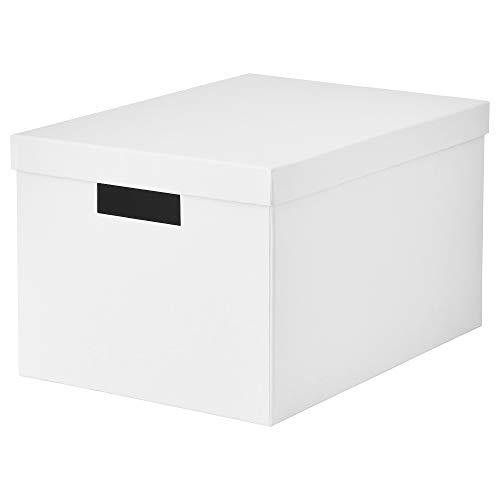 IKEA 603.954.28 Tjena - Caja de almacenamiento con tapa, color blanco