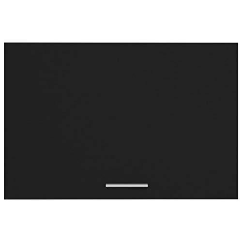 Qnotici Armadio per Materiale truciolare, Armadio da Cucina pensile per Famiglia 60 x 31 x 40 cm-Nero