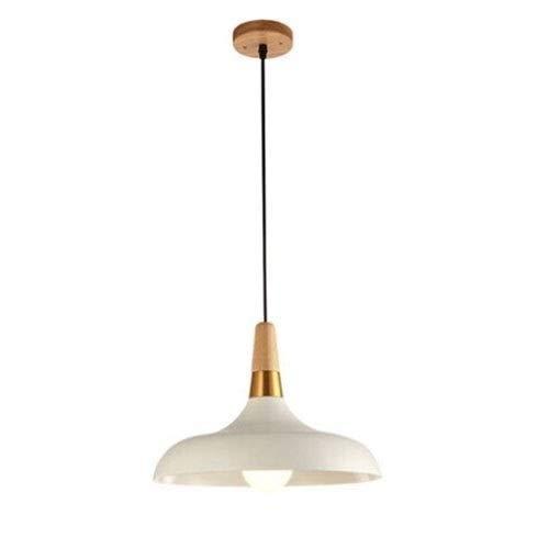ZZYJYALG Luz pendiente de la manera pendiente blanca moderna luz creativa personalidad dormitorio de la lámpara de la sala de arte simple de aluminio colgante de la lámpara E26 / E27 Fuente de luz aju