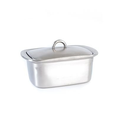 Lakeland Stainless Steel Insulated Butter Dish with Lid