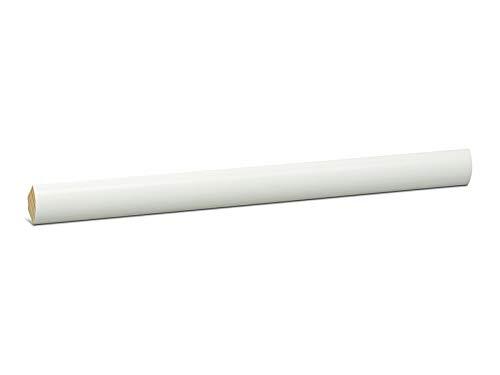 KGM Viertelstab weiß lackiert | Dreieck Leiste 18mm ✓Bastelleiste ✓Abschlussleiste ✓Deckenleiste ✓Echtholz Massiv | Kiefer Holz Leiste weiß | Deckenabschlussleiste 2,4m | Viertelstab 18mm