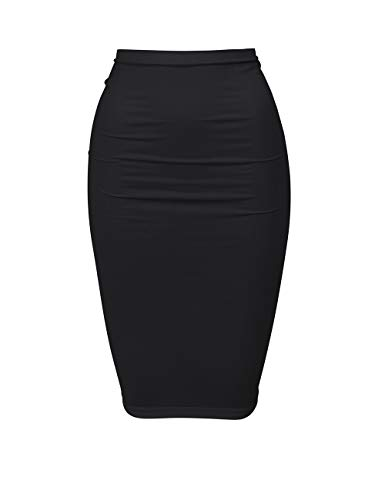 Wolford Damen Fatal Skirt Rock, oder Kleid Nahtloser Tube Schlauchrock enganliegend figurbetont schmale Passform wandelbar zu,7005 Black,Small (S)