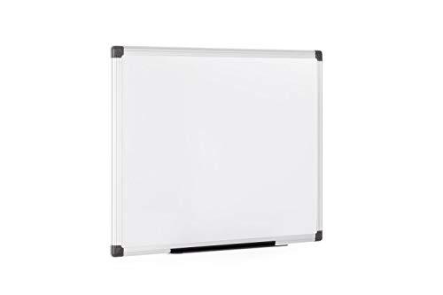 Bi-Office Magnetisches Whiteboard Maya - 60 x 45 cm - Magnetwand mit Trocken Abwischbar Lackierte Stahloberfläche, Magnettafel mit Alurahmen Und Stifteablage, Memoboard