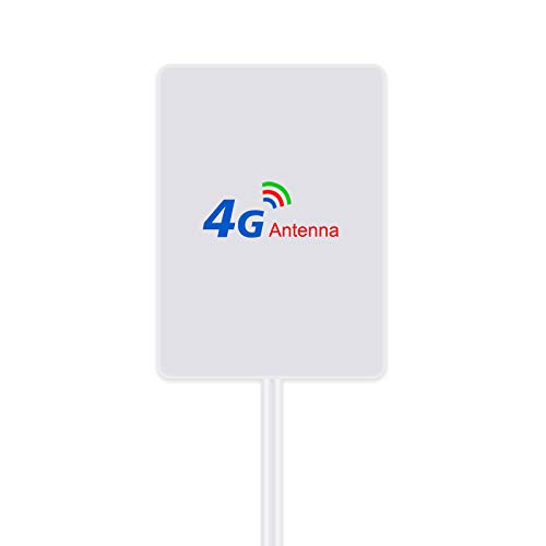 4G LTE Antenna 15dBi TS9 Connector (Male) Dual Mimo TS9 Antenna Booster with 2m Cable for 4G LTE WiFi Router Mobile hotspots Mount for Huawei Vodafone Mobile Hotspot Router etc