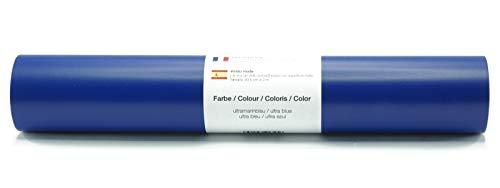 Selbstklebende Wandtattoo-/ Plotterfolie Vinylfolie matt 30,5 cm x 3 m - Farbauswahl, Farbe:Ultramarinblau