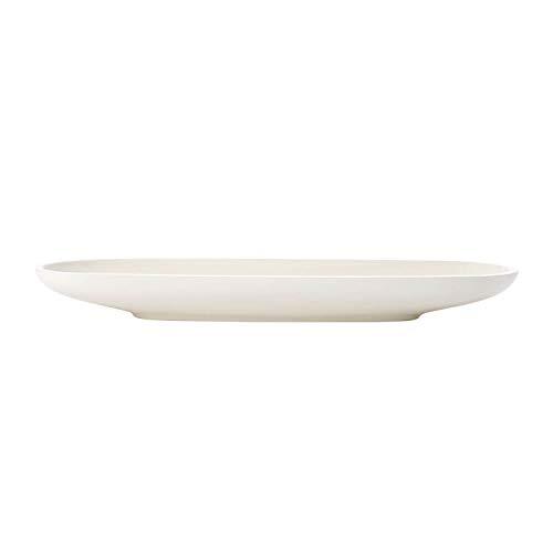 Villeroy und Boch - Artesano Original Baguetteschale, Schale für Anti-Pasti, Premium Porzellan, weiß, 44 x 14 cm, 1300 ml