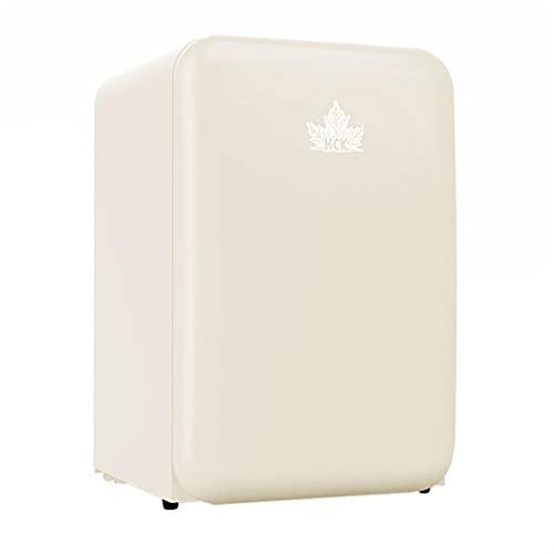 Refrigerador de vino 107L, refrigerador de vino retro de doble zona, refrigerador para el hogar Vidrio templado de puerta de una sola puerta, bodega independiente ( Color : Beige , Size : 55*58*84cm )