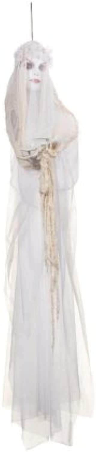 Battery Operated Christmas Animated Light Up Ghost White Bride Gift