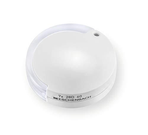 Eschenbach Optik Lupe Einschlaglupe mobilent, 7,0 x, weiß, mit Umhängekordel