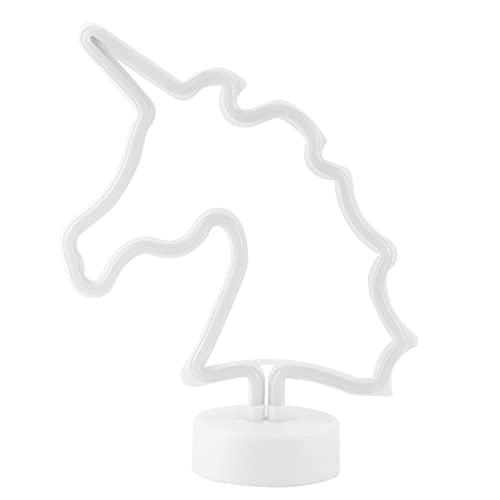 Unicornio Luz de letrero de neón Escritorio innovador Lámpara de noche LED colorida Luz de escritorio Decoración de dormitorio Fiesta en casa Regalo de cumpleaños Luz de decoración de la habitación de