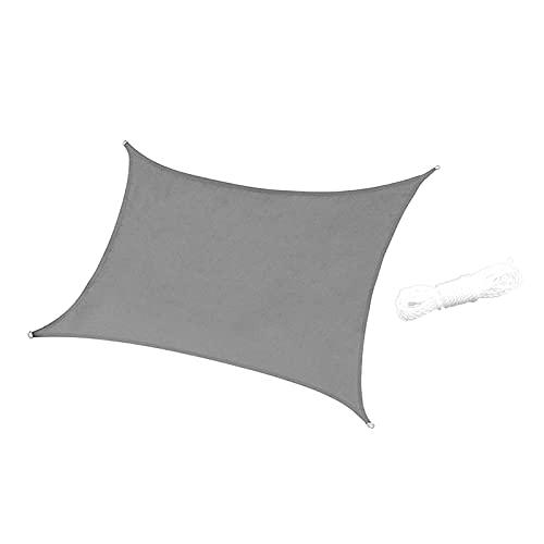 MERIGLARE Toldo de Bloque UV Impermeable de Vela de Parasol para Jardín Al Aire Libre