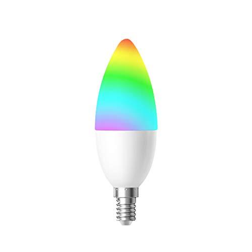 Woox Smart Lamp Bulb, Lampadina a LED con attacco E14, multicolore RGB + bianco 2700K, potenza 4.5W, funziona con Amazon Alexa e Google Home