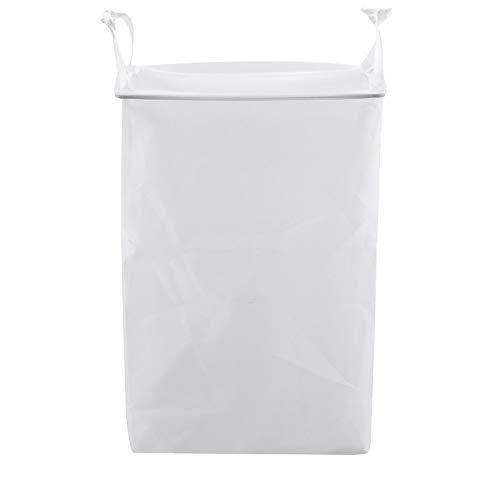 LINMAN 2pc Pared Colgando Ropa Sucia Cesta baño pegajoso Ropa Sucia Almacenamiento Cesta baño Simple lavandería Cesta (Color : White)