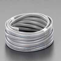 125V/12A/10m ビニールキャブタイヤ ケーブル(白) EA940AK-22
