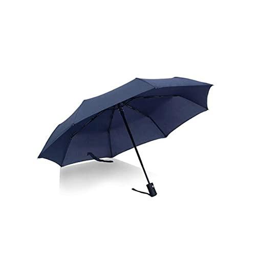 Hanpiyigys Paraguas, Paraguas Plegable de Paraguas de Lluvia Abierta automática, Paraguas Ligeras pequeñas compactas para la Lluvia del Sol, 1pcs, Negro, Azul, Rojo (8 Costillas)