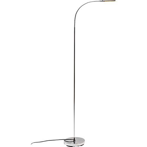 Kare Design Stehleuchte Literature Chrome LED, Leselampe silber, Stehleuchte LED, Leselampe modern, (H/B/T) 165x51x20cm