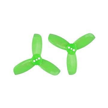 Accessori per droni 4 Paia Hulkie 1940 1.9X4.0 Pc 3-Blade Elica CW CCW per 1104-1105 Motore FPV Rc Drone - Giallo (Colore: Giallo) ( Color : Green )