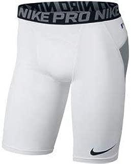 Men's Pro Heist Dri-FIT Baseball Sliding Shorts, White/Grey, 2X-Large
