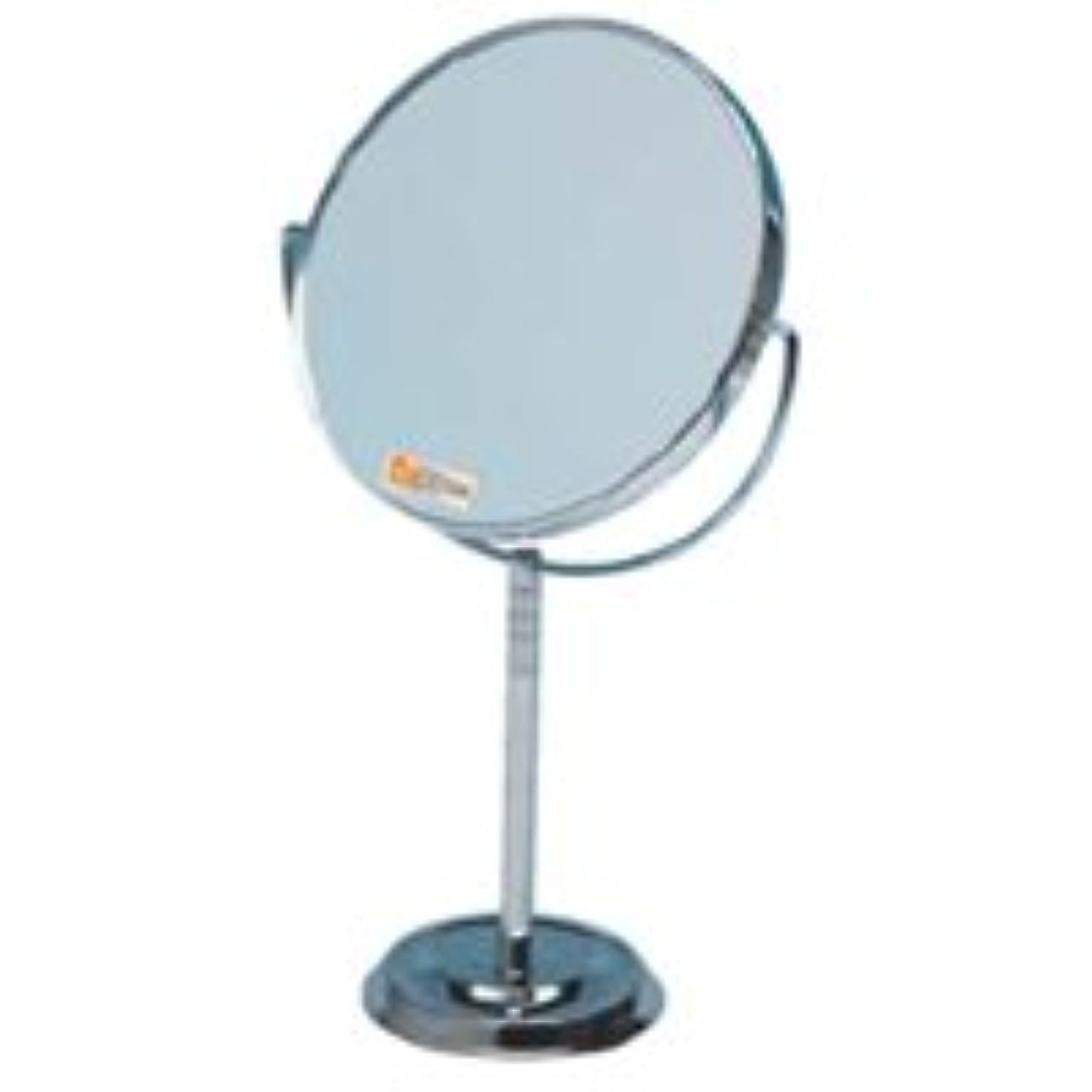 鼻石の幽霊卓上ミラー 拡大鏡 メイク スタンドミラー 卓上 拡大鏡 メイク 拡大ミラー ナピュアミラー 鏡 リアルズームアップ プラス 7倍 RS-07 両面 スタンドミラー 卓上 堀内鏡工業