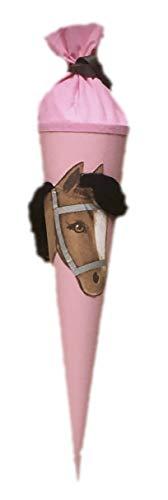 ZIEGFELD Schultüte Pferd Pony Linda, 3D mit echter Mähne zum Kämmen und frisieren
