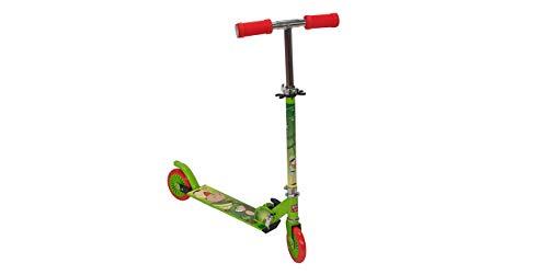 GIL-Design Alu Scooter für Jungen und Mädchen lizenzierter Roller zweirädrig Für Kinder ab 5 Jahren Klappbarer Höhenverstellbare Lenkerstange Belastbarkeit Maximal 50 kg