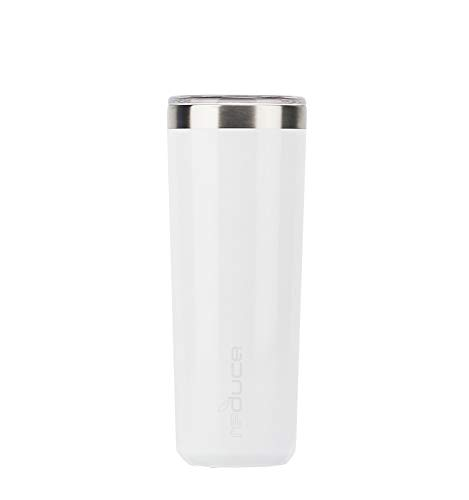 High Ball Tumbler with Lid – 14oz Stainless Steel Vacuum Insulated Cup – Enjoy Your Chilled Drink at the Perfect Temperature – Ideal for an Outdoor Cocktail, Soda or Water–Opaque Gloss White