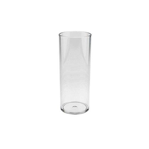 Verre à cocktail Longdrinkglas Doimoflair Verre réutilisable Tube de 35 cl en plastique dur 6 pièces pour bouteilles de 0,25 l