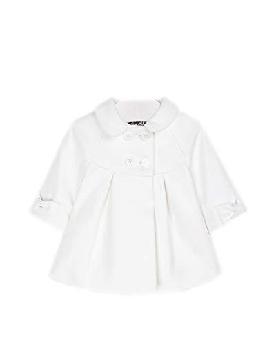Cappotto Elegante da Bimba Newborn, 6-9 Mesi (75), Bianco