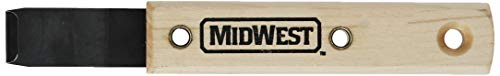 MIDWEST Siding Removal Tool - Offset Hardened Steel Blade with Hardwood Handle & Handy Hang Hole - MWT-ST