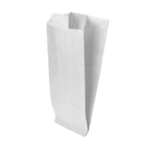 VIRSUS Palucart 1000 Sacchetti di Carta per Alimenti Sacchetto di Carta Bianco per Caramelle 17 x 34 cm Buste di Carta per Alimenti